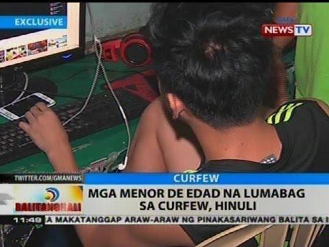 BT: Mga menor de edad na lumabag sa curfew, hinuli
