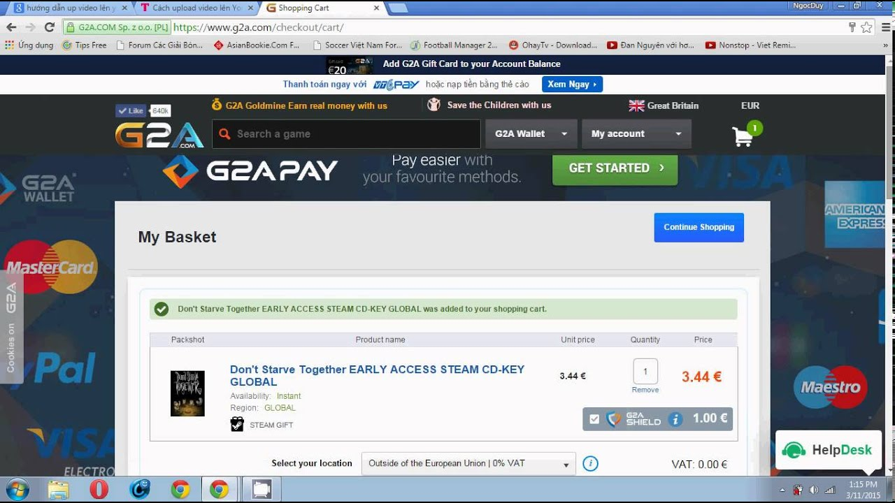 help me i can not buy game by g2a wallet youtube