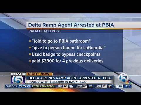 Delta Airlines Ramp Agent Arrested With $282K
