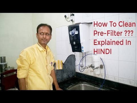How to clean the pre-filter in hindi (must watch) #Santosh Technical