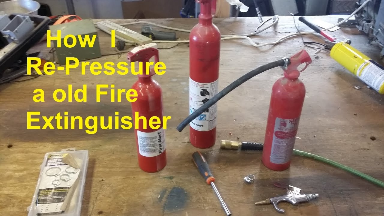 How To Recharge Re Pressurize A Old Fire Extinguisher Diy