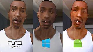 Las Diferencias entre GTA San Andreas de PS2 - Xbox - Android - PC - PS3 - PS4 !
