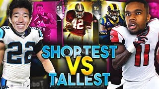 MUST SEE COMEBACK! TALLEST VS SHORTEST PLAYERS DRAFT! Madden 19 Draft Champions