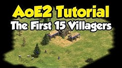 Beginner guide to the first 15 villagers [AoE2]