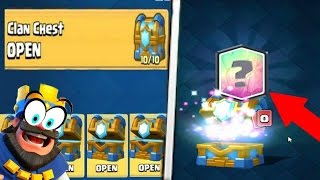 OMG! OPENING 6 CLAN CHEST! UNLOCKING LEGENDARY CARDS! ! CLASH ROYALE CHEST OPENING