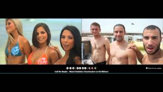 Repeat youtube video Call Me Maybe - Miami Dolphins Cheerleaders vs US Military