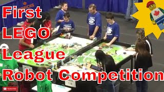First Lego League Robotic Competition at Acadia University NS Feb 17th 2018