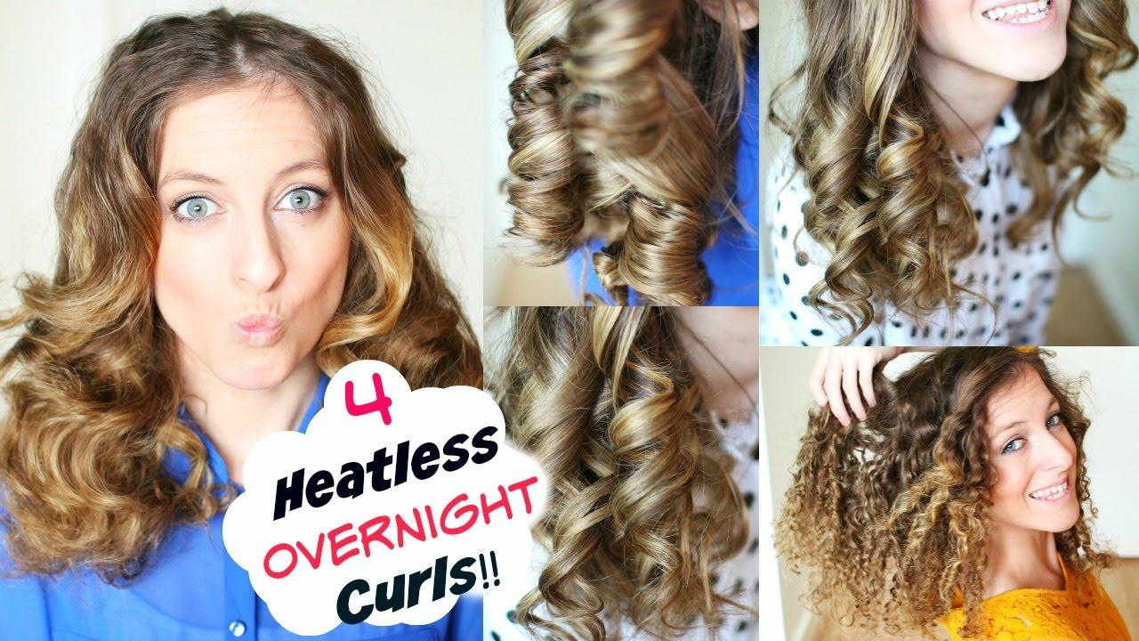 4 overnight no heat curls | overnight heatless curl methods | braidsandstyles12