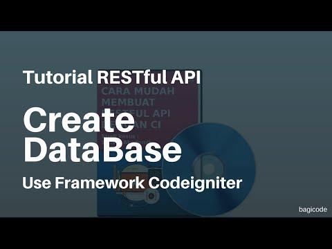 Tutorial RESTful API with CI | 8. Cara Membuat Database