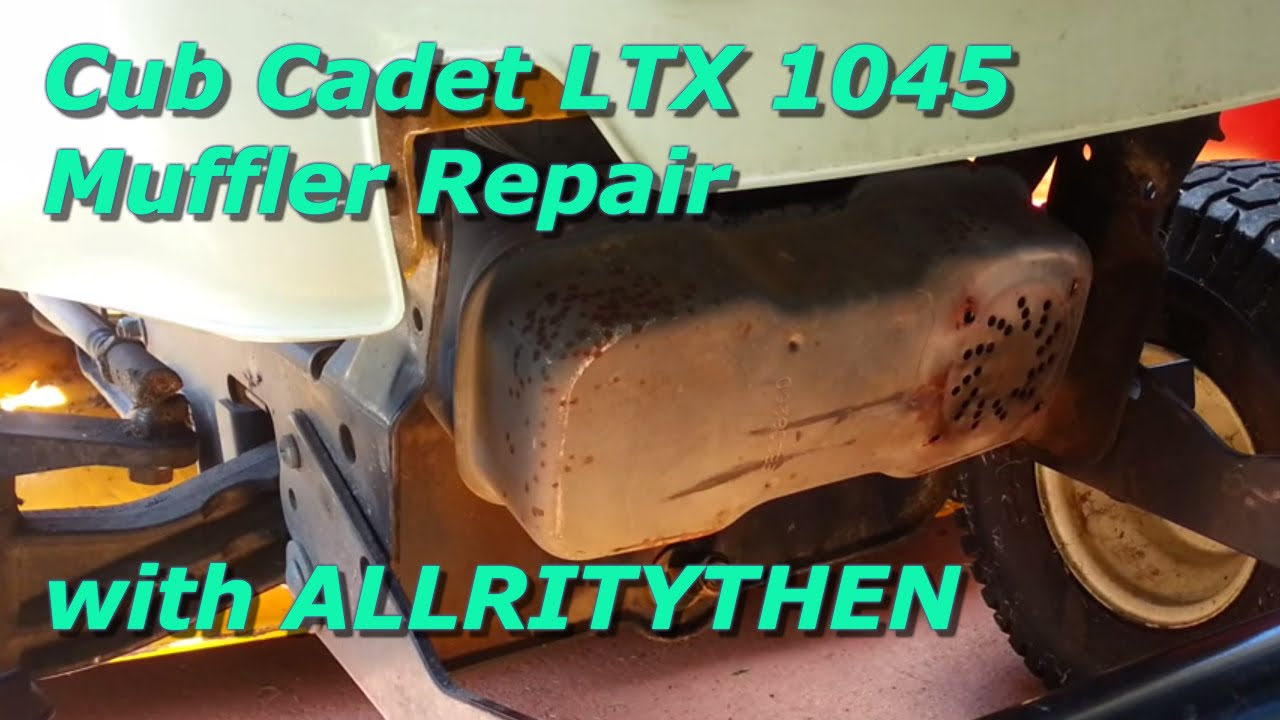 Cub Cadet Ltx 1045 Muffler Repair Youtube Wiring Harness