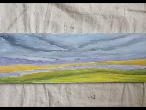 Cloudy Valley – Acrylic Painting Lesson with Artist Charles Wolf