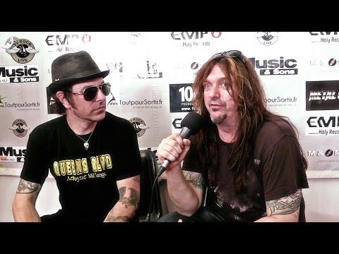 Skid Row - Interview Rachel Bolan & Snake - Hellfest 2014 [HD] - TV Rock Live -  VOSTFR