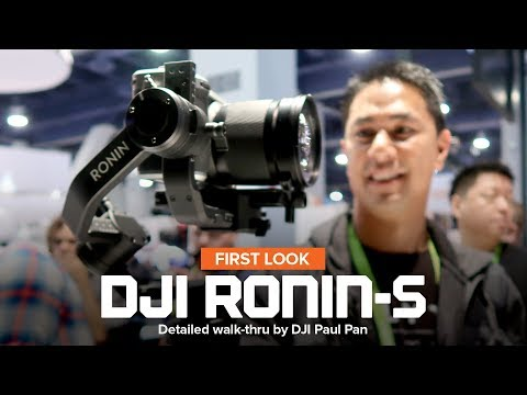 CES 2018 - DJI Ronin-S hand held gimbal for DSLR and mirrorless cameras