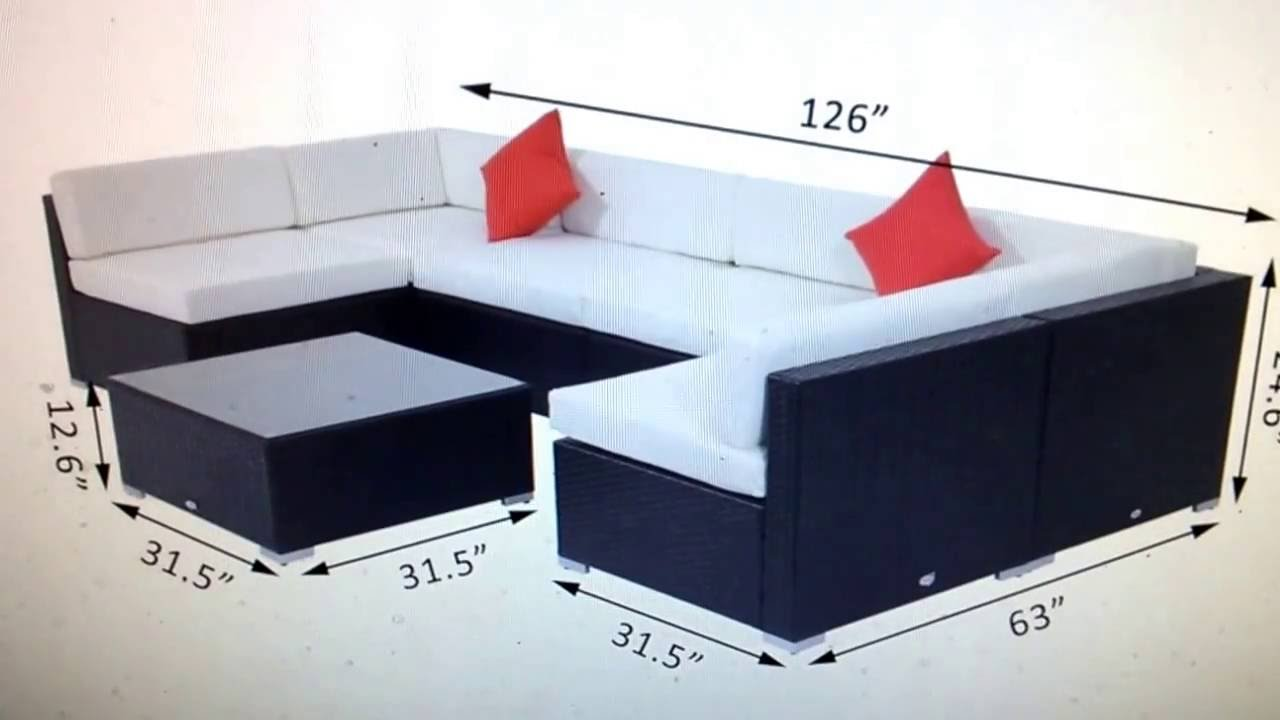 ebay rattan furniture set 7 pcs sofa garden outdoor patio pe
