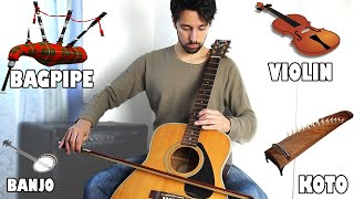 Instruments imitations on guitar