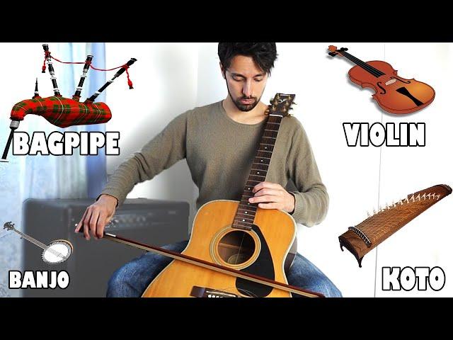 Instruments imitations on guitar