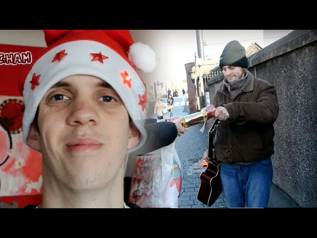 Disabled volunteer shares Christmas cheer with homeless