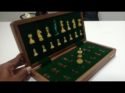 Craftgasmic Folding Magnetic Travel Chess Board Set Wooden Game Handmade, Classic Game of Brilliance