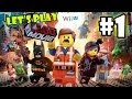Let's Play LEGO Movie - Part 1: Lord Business' First Battle     Father Son Co-Op Walkthrough Wii U