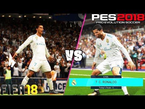 FIFA 18 vs. PES 18: Celebrations
