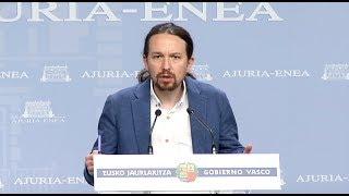 Declaraciones de Pablo Iglesias tras la reunión con el lehendakari Iñigo Urkullu