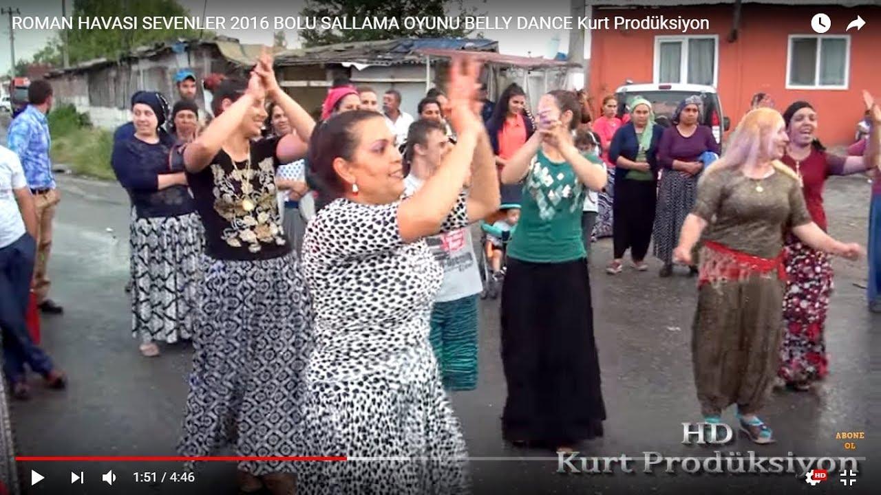 ROMAN HAVASI SEVENLER 2016 BOLU SALLAMA OYUNU BELLY DANCE Kurt Prodüksiyon