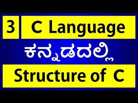 C Language in KANNADA - 3 | Structure of C Program (ಕನ್ನಡದಲ್ಲಿ)