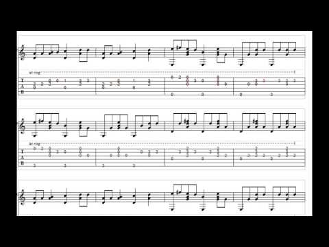 Marry You - Bruno Mars Fingerstyle Guitar Tabs
