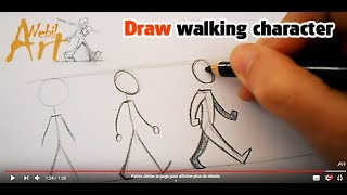 Draw a walking character is really very easy