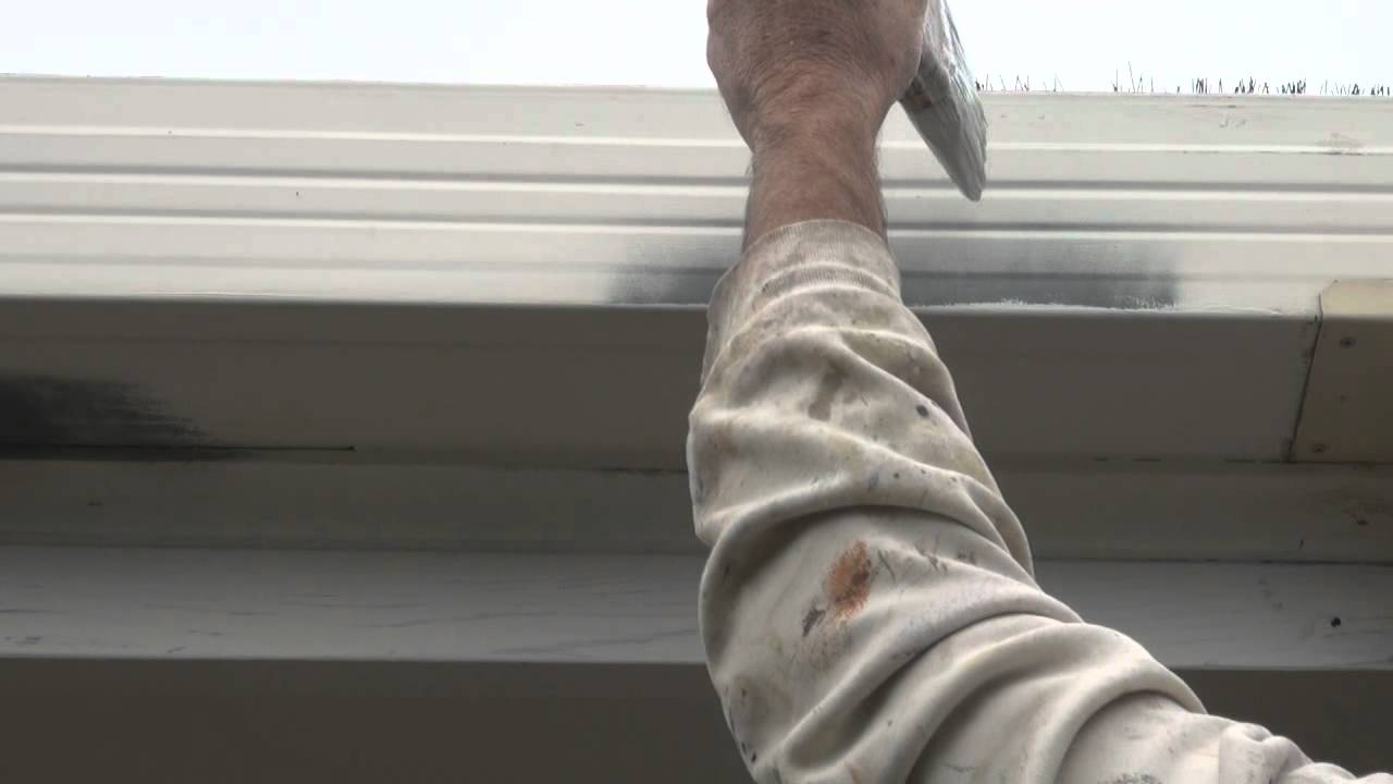 Gutters and Fascia - The best technique on how to apply paint to gutters  and facsia