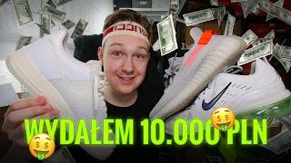WYDAŁEM 10.000 PLN NA BUTY W MIESIĄC! Moje zakupy YEEZY, JORDAN, NIKE, ADIDAS, PUMA! + on feet!
