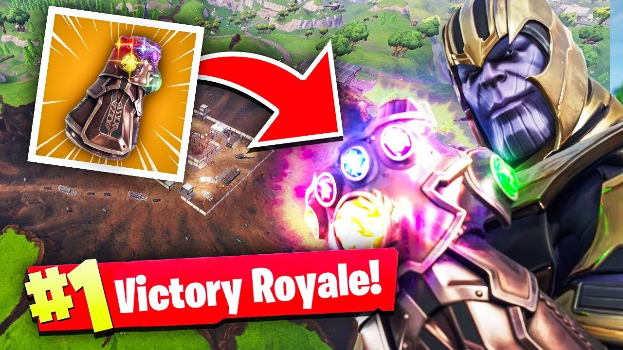 first-ever-fortnite-win-w-thanos-infinity-gauntlet-avengers-game-mode-fortnite-moments
