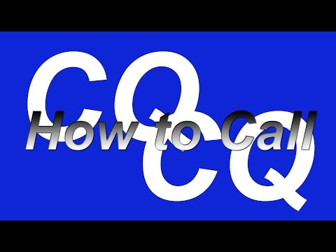 How to call CQ