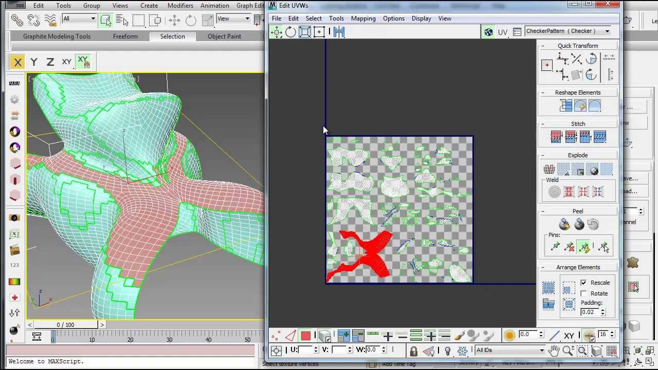 3ds Max Using Different Unwrap Uvw Methods To Prepare A