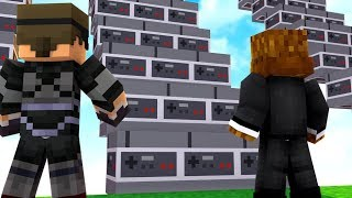 Video Game Lucky Block Staircase Race W/ SkyDoesMinecraft - Minecraft Modded Minigame | JeromeASF