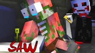 Monster School : THE SAW CHALLENGE - Minecraft Animation