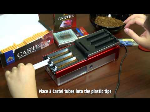 M TOBACCO Ltd. - Cigarette tube filling electrical machine CARTEL for three cigarettes