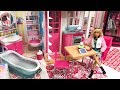 New Barbie Morning Routine! Fold-up House!