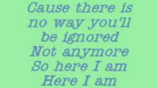 Camp Rock - Here I Am- Lyrics