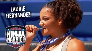 Laurie Hernandez Medal Run! 🏅 | American Ninja Warrior Junior | Universal Kids