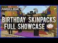 MINECRAFT XBOX 360: NEW BIRTHDAY SKINS FULL SHOWCASE WITCH, WITHER & MORE [NEW SKINS!]
