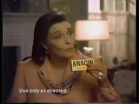 Patricia Neal 1983 Anacin Commercial
