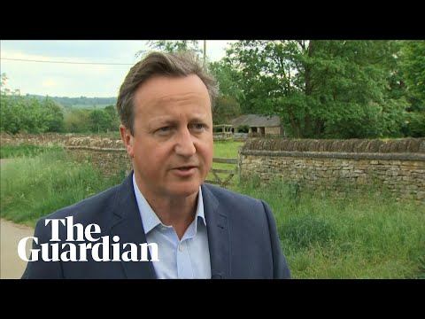 David Cameron says he feels 'desperately sorry' for Theresa May after resignation