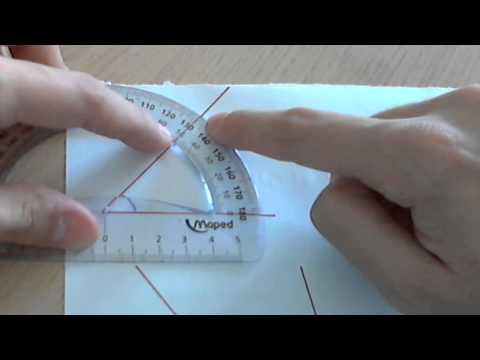 Medir ángulos con el transportador de ángulos