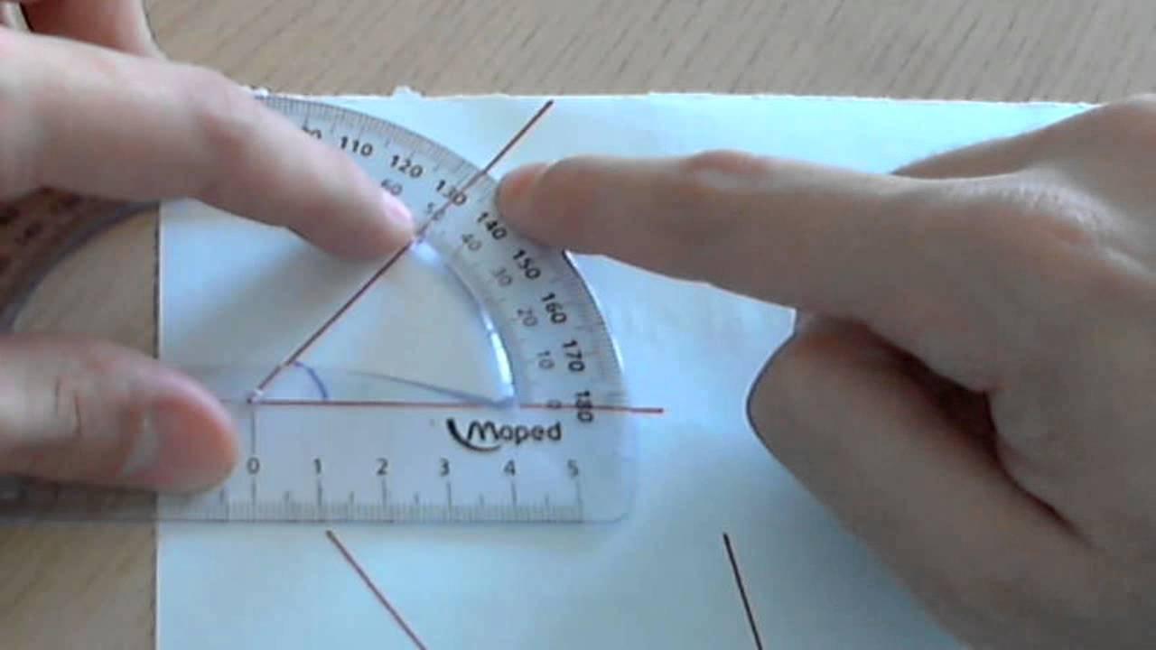 Medir ángulos con el transportador de ángulos - YouTube