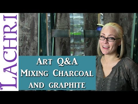 Art Q&A - Mixing Graphite and Charcoal - artist tips w/ Lachri