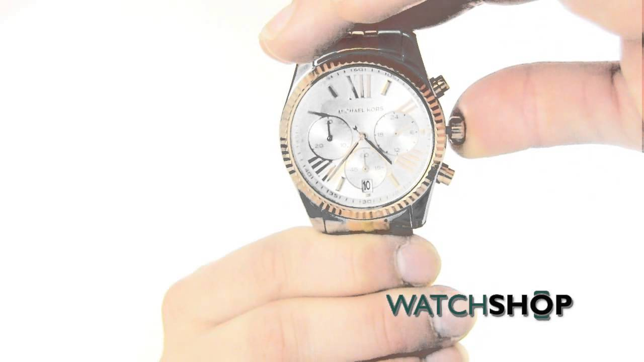 0ebae09dd020 Michael Kors Ladies  Lexington Chronograph Watch(MK5735) - YouTube