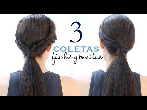 Peinados con coletas fáciles y elegantes | Paso a paso