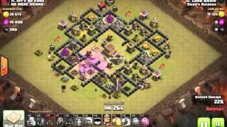Clash of Clans TH8 Govalo attack