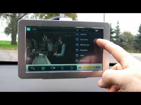 Android Tablet PC Mpeg4 DVB-T GPS Digital TV channels test ( Tallinn )